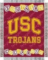 "USC baby 36""x 46"" Triple Woven Jacquard Throw (College)"