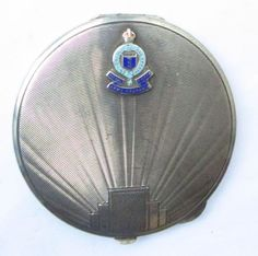 NO RESERVE HM 1940 WW2 Royal Army Ordnance Corps Solid Silver Powder Compact