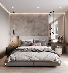 Modern Luxury Bedroom, Master Bedroom Interior, Room Design Bedroom, Bedroom Furniture Design, Modern Bedroom Design, Home Room Design, Small Room Bedroom, Luxurious Bedrooms, Home Decor Bedroom