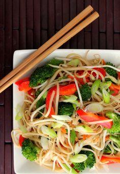 Veggie Noodle Salad with Soy Vinaigrette