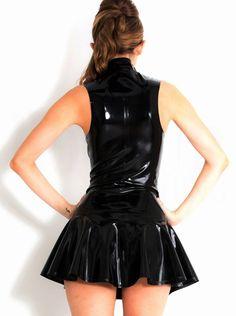 Aliexpress.com: 365Buy (Lingerie & Costume & Dress & Bikini)より信頼できる ミニベルベットのドレス サプライヤからビニールレザーランジェリードレス黒ボディスーツブラックフェイクストラップ背中の開いた衣装ドレスセクシーなミニドレスを購入します