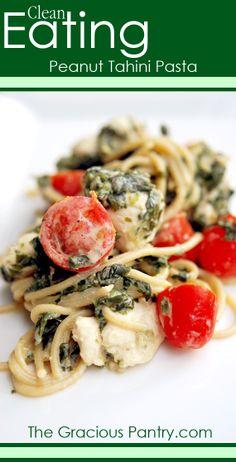 Clean Eating Peanut Tahini Pasta. #cleaneatingrecipes #eatcleanrecipes #cleaneating #eatclean #pasta #pastarecipes