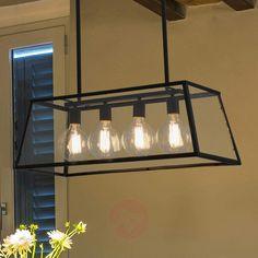 Hengelampe Rose i industriell stil og med fire lys-Pendellamper-3507193-30