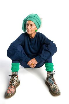 I can only hope to look like this at her age! Just imagine the accumulation of clothing over the years!!! (found athttp://advancedstyle.blogspot.com/ )