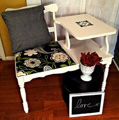 Idea for my telephone table makeover