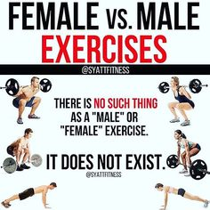 "FEMALE vs MALE EXERCISES by @syattfitness - Hehe hi Just landed in Vegas for a quick biz trip. Coffee black and about to get a lift in. Which brings us to an important topic. - There is NO SUCH THING as a ""female"" or ""male"" exercise. It does not exist. There isn't a single exercise men can do that women shouldn't. And there isn't a single exercise women should do that men shouldn't. - Wanna pick some heavy weights up? Deadlift it! Woman or man doesn't matter. I have male clients who deadlift…"