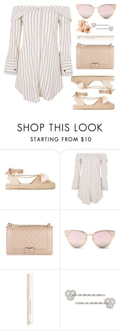 """Espadrilles"" by libbytu ❤ liked on Polyvore featuring Soludos, Topshop, Chanel, LMNT, H&M, Carolee and Bobbi Brown Cosmetics"