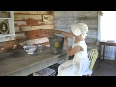This is a day in the life of a pioneer child. It shows their chores and what they did on a regular basis.