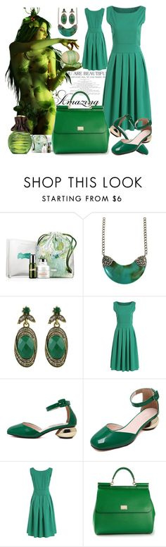 """""""Green muse"""" by ane-twist ❤ liked on Polyvore featuring Champion, La Mer, Avon and Dolce&Gabbana"""