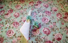 """Купить Скатерть """"Пионы на мятном"""" из ламинированного хлопка - мятный, скатерть, ламинированная ткань, ламинированный хлопок"""