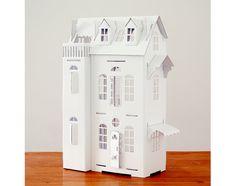 Kids will have a ball customizing a cardboard dollhouse.