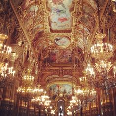 The Opera  - gorgeous!!!  If you come to Paris, you should visit it!