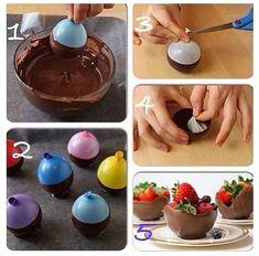 DIY Cestas de Chocolate para a Páscoa - http://www.boloaniversario.com/diy-cestas-de-chocolate-para-a-pascoa/