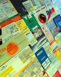 """""""Vestígios de Viagens""""/""""Traces of Travel""""....airline tickets/memorabilia"""