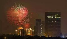 14th August 2014 night in Islamabad celebration of independency with firecrackers