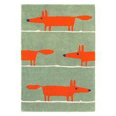 Mr Fox rug by Scion at John Lewis   Modern rugs   Rug   PHOTO GALLERY   25 Beautiful Homes   Housetohome.co.uk