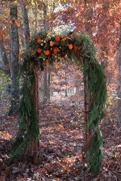 Arbor for Woodland Wedding #mansionandmarsh #autumn weddings http://mansionandmarsh.com