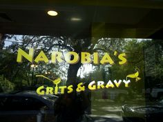 Narobia's in Savannah, GA - Super delicious Southern (not Cajun) Grits & Gravy