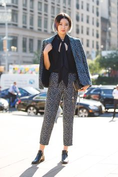 The Most Authentically Inspiring Street Style From New York #refinery29  http://www.refinery29.com/2015/09/93788/ny-fashion-week-spring-2016-street-style-pictures#slide-1  Pretty sure we've never seen a matching suit set we don't love....