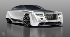 2050 Rolls-Royce Phantom Final Render. Adobe Photoshop CC and Wacom Bamboo drawing tablet.