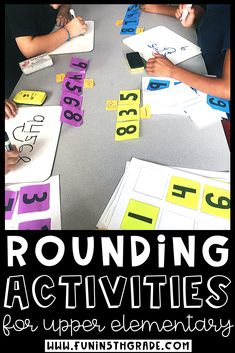 These Rounding activities for upper elementary are perfect to use when introducing, teaching or reviewing rounding.  Rounding can be a tough concept to grasp for some students! FREEBIES INCLUDED! Includes games, activities, anchor charts and more to help engage your students and help them grasp the concept!