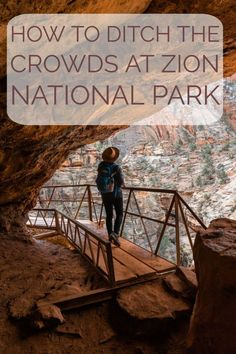 To Ditch the Crowds at Zion National Park - Zion National Park, lesser-known trails. The best hikes, views, and look out points. This inculdes canyon overlook trail and observation point. List of best hikes and views in Zion National Park. Utah Vacation, Vacation Spots, Adventure Time, Adventure Travel, Places To Travel, Places To Visit, Travel Destinations, Angeles, Just Dream
