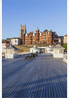 Greetings Card-England, Norfolk, Cromer, Town Skyline and Cromer Pier-Photo Greetings Card made in the USA Cromer Norfolk, Norwich Norfolk, Norfolk England, San Francisco Skyline, Seaside, Cool Photos, Poster Prints, City, Places