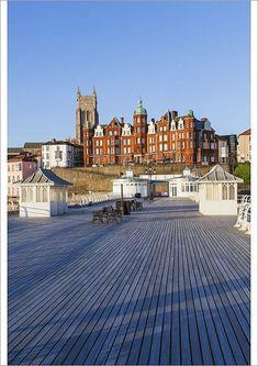 Greetings Card-England, Norfolk, Cromer, Town Skyline and Cromer Pier-Photo Greetings Card made in the USA Cromer Norfolk, Norwich Norfolk, Norfolk England, San Francisco Skyline, Seaside, Cool Photos, Poster Prints, World, City