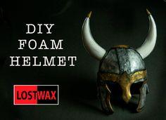 How To Make a Viking Helmet! DIY foam Helmet With Pattern. Halloween cos...
