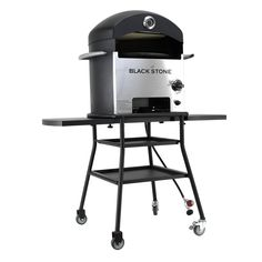 The Blackstone Patio Pizza Oven is the best way to make your own pizza. The rotating stone gets heated quickly and rotates for you with a battery powered motor, meaning no AC plugs! The oven pushes ou
