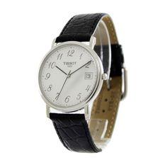 Tissot T-Classic Desire Men's Black Leather Strap Watch T52.1.421.12