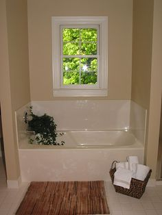"""Steps to getting a bathroom ready for your house to sell. Includes tips for """"staging"""" your own bath."""