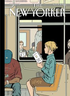 Missed Connection. The New Yorker,November 8, 2004. Adrian Tomine (born 1974).  Tomine, a popular contemporary cartoonist, is best known for his ongoing comic book series Optic Nerve and his periodical illustrations in The New Yorker.  They just happened to be in the right place at the right time, but yet at the wrong place at the wrong time.