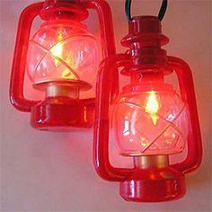 C7 Red Lanterns String Lights, Order Online from PartyLights.com!