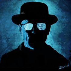 Portrait of Mr Heisenberg - Breaking Bad Art Print by Z-GrimV Breaking Bad Series, Breaking Bad Art, Breaking Bad Poster, Heisenberg, Breakin Bad, Lady Loki, Watch Tv Shows, Boy Photography Poses, Buy Prints