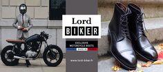 www.lord-biker.fr | Chaussure de moto haut de gamme pour motards élégants ! #biker #lord #gentlemen #gentleman #rider #boots #style #look #mode #homme #bottes #moto #motard #caferacer #vintage #equipement #Bobber #DGR #scrambler #chaussures