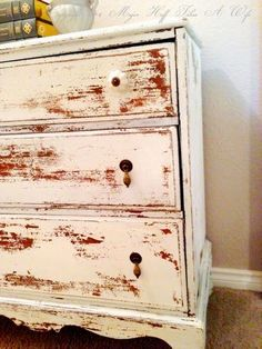 How Miss Mustard Seed Milk Paint Saved A Damaged Dresser - Major Hoff Takes A Wife : Family Recipes & Travel Inspiration Milk Paint Furniture, Distressed Furniture Painting, Furniture Fix, Diy Furniture Projects, Furniture Companies, Furniture Makeover, Painted Furniture, Vintage Furniture, Diy Projects