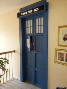 im working on my bedroom and trying to make my tardis bigger on the inside... i guess this is how ;)