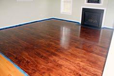 #DIY Plywood floors.  Inexpensive and beautiful!