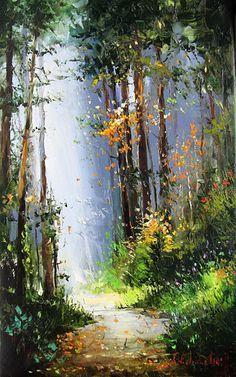 I like the style of Forest Walk by Gleb Goloubetski