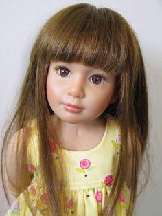 "Lena original long, brown wig only Kidz N Cats 18"""