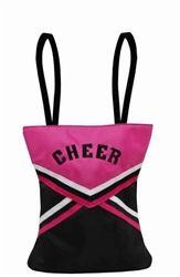 Cheerleader uniform tote bag comes in pink, green, royal, red. http://www.yougogirldancewear.com/product-p/sd-chr-03.htm
