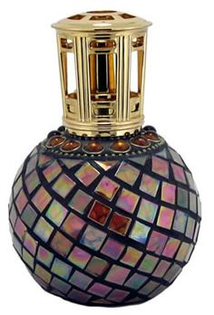 Beaded Mosaic 5.5 inches tall 4 inches wide This Lamp Includes: Decorative Crown Cap Cut Off Cap Funnel 1 Stonewick Platinum Wick® with replaceable cotton