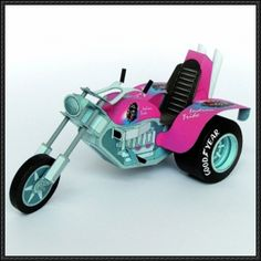 A Motorized Tricycle Free Vehicle Paper Model Download - http://www.papercraftsquare.com/motorized-tricycle-free-vehicle-paper-model-download.html
