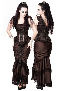Victorian Stripe Steampunk Skirt - £44.99 : Angel Clothing | Gothic and Steampunk Clothing