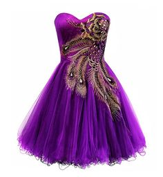 peacock dresses | ... metallic peacock corset tutu short prom purple homecoming dresses