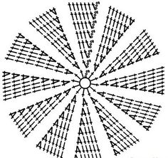 Схема вязания донышка