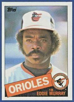 1985 Topps Eddie Murray Baltimore Orioles Hall of famer Baseball Card! Minor League Baseball, Baseball Players, Baseball Cards, Major League, Football, Basketball Tickets, Basketball Uniforms, Basketball Games, Baltimore Orioles Baseball