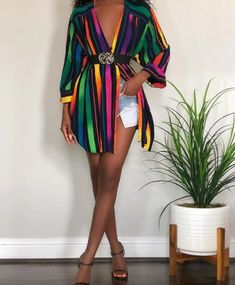 Charming Striped shirt dress Source by mariammarquez Dresses Black Girl Fashion, Look Fashion, Fashion Outfits, Womens Fashion, Fashion Tips, Classy Outfits, Stylish Outfits, Mode Old School, Looks Plus Size