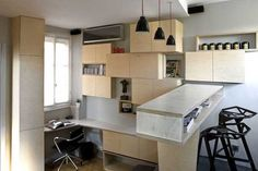 130 Square Foot Micro Apartment in Paris – Big Tricks in a Tiny Place